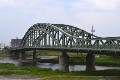 北海道三大名橋の旭橋の写真