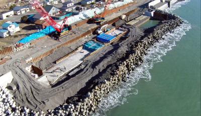海岸工事の写真