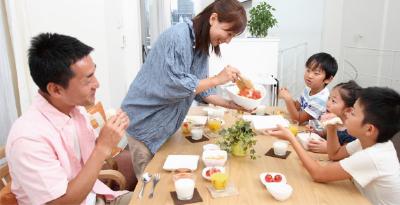 食事の風景写真