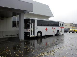 献血バスの写真