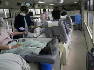 献血の様子の写真